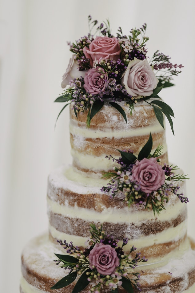 Naked cake - vocabulario nupcial