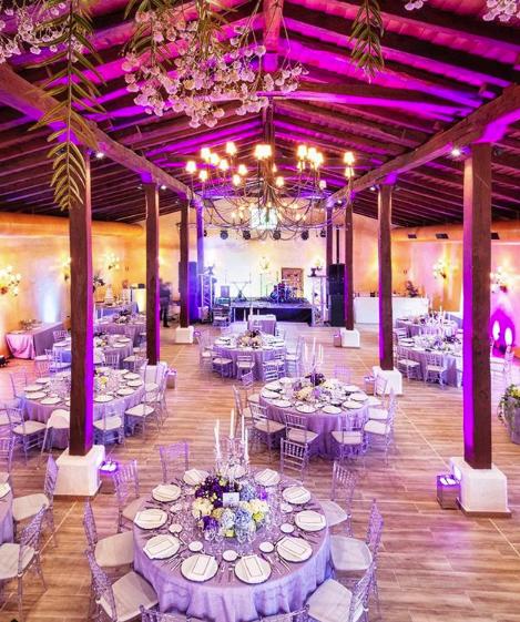 decoración floral para las mesas de bodas o eventos