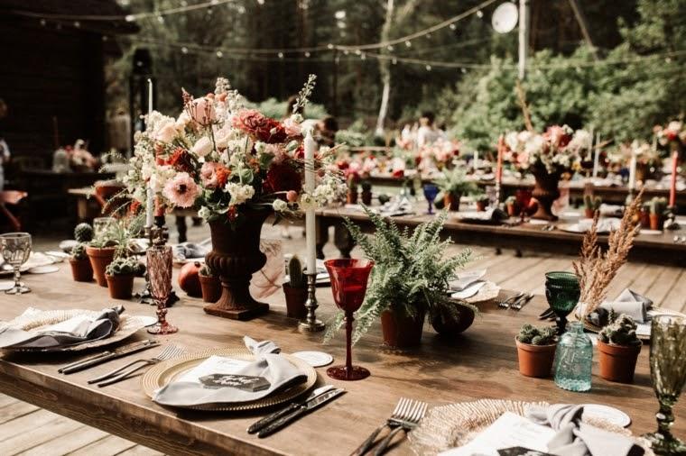 decoracion mesas boda boho chic