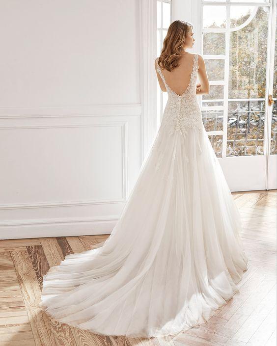 tendencia vestido novia escote
