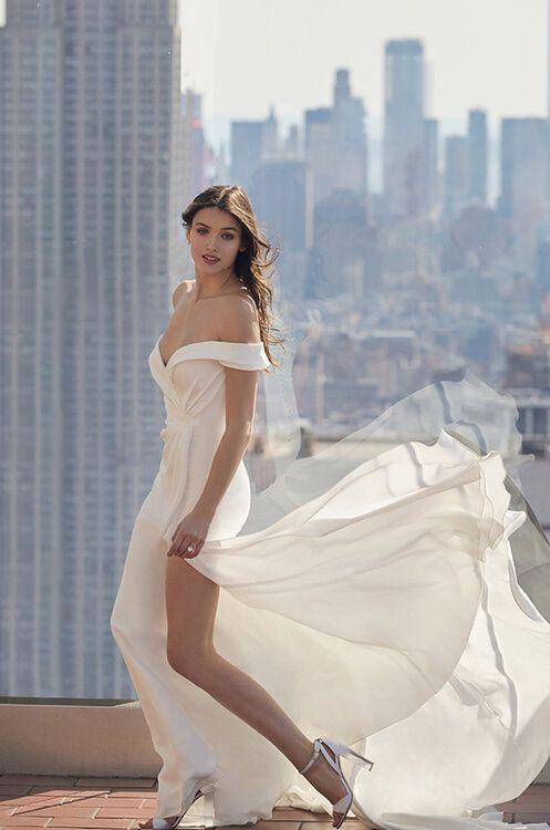 tendencia vestido novia hombros al aire