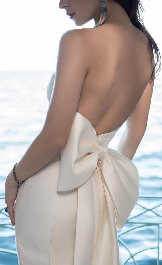tendencia vestido novia lazo