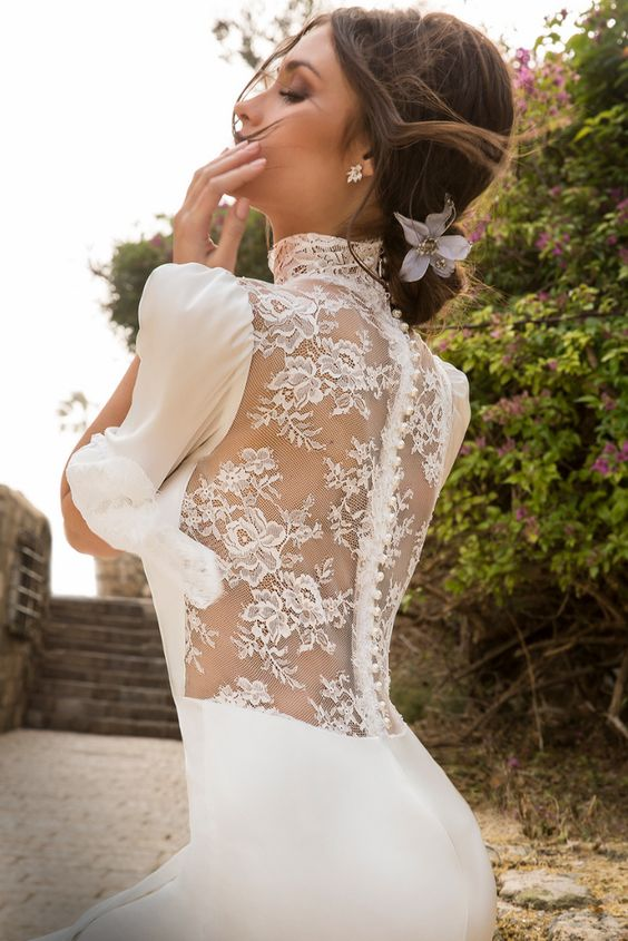 tendencia vestido novia transparente
